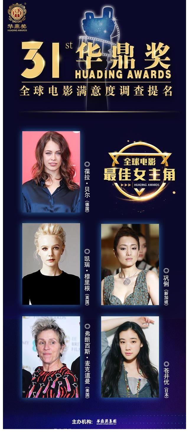 第31届华鼎奖提名揭晓 来自四个国家的导演参赛 无论谁获奖都是应得的