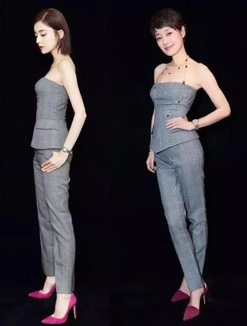 马伊琍赢得漂亮,穿格纹套装撞衫古力娜扎,大女人风范是关键